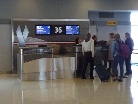 JFK 第8ターミナル ゲート36
