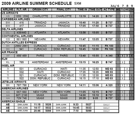 SXM schedule for fwtw
