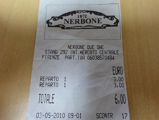Nerbone Lampredotto Panino(Firenze)