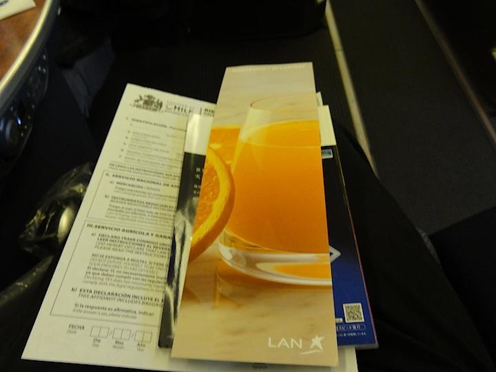 世界一周2日目LA531 LIM-SCL