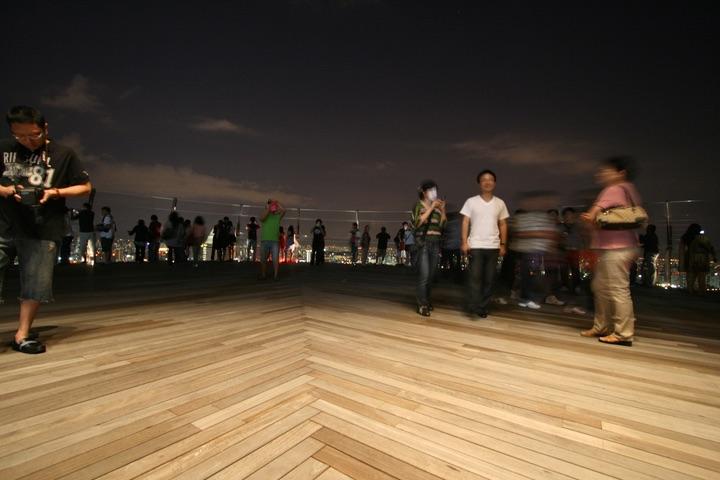 Marina bay sands observation dack